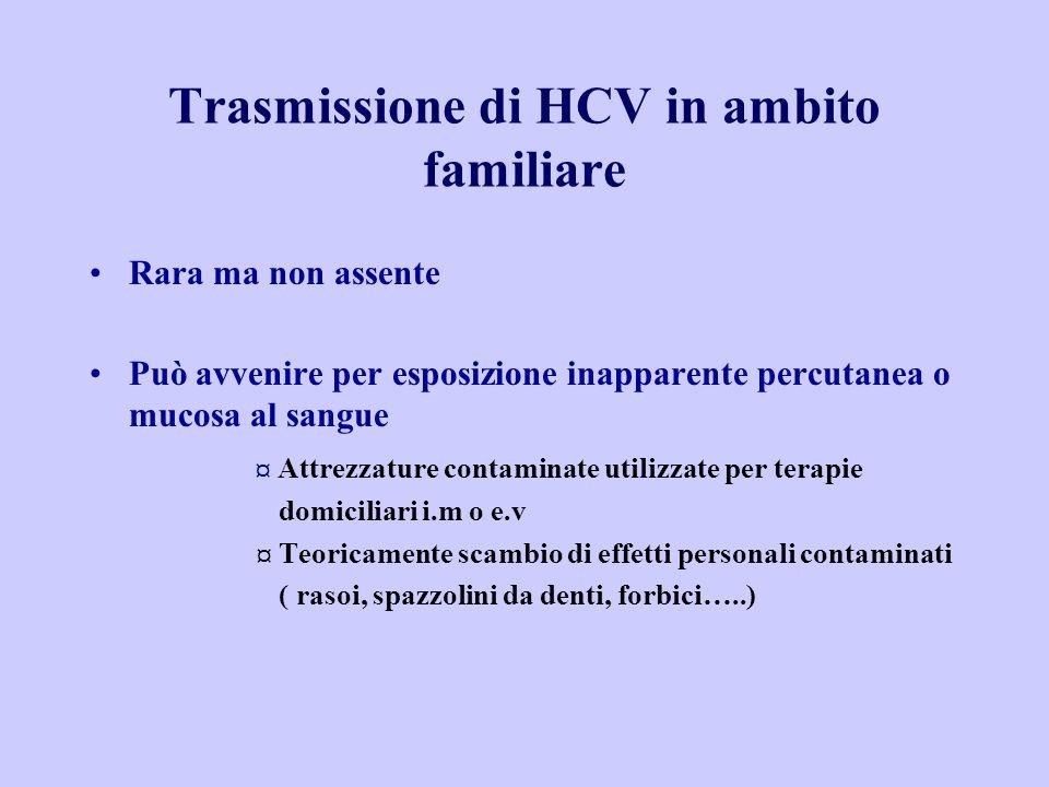 Trasmissione di HCV in ambito familiare