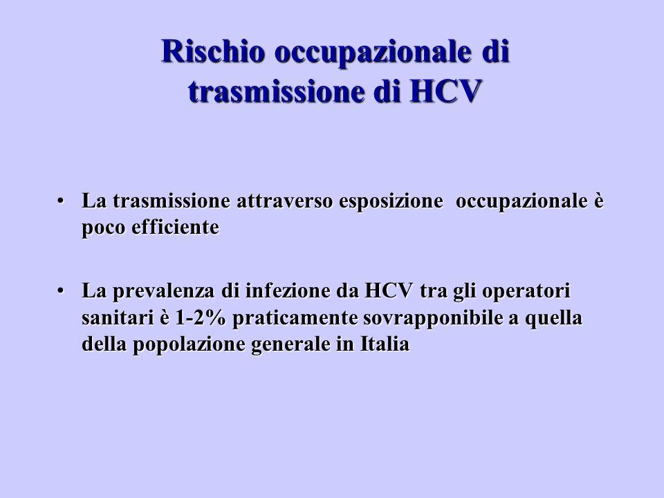 Rischio occupazionale di trasmissione di HCV