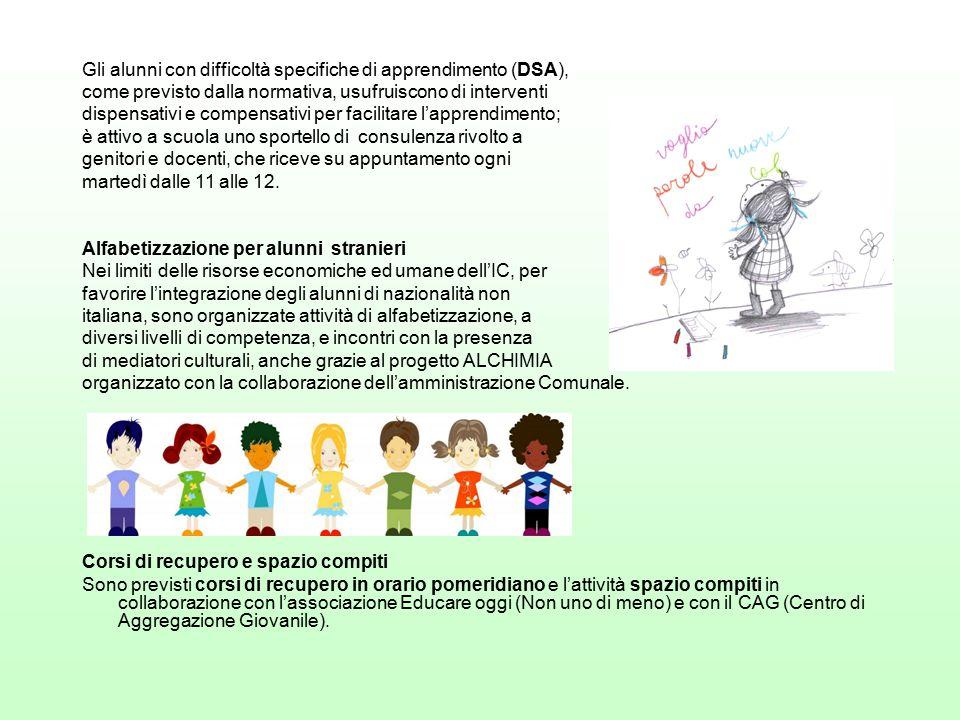 Gli alunni con difficoltà specifiche di apprendimento (DSA),