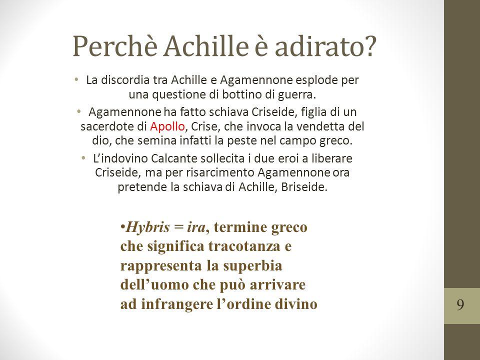 Perchè Achille è adirato