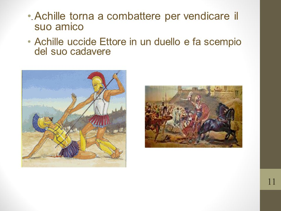 Achille torna a combattere per vendicare il suo amico