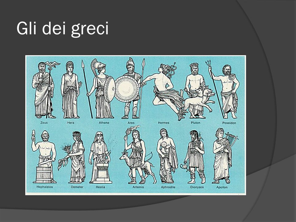 Gli dei greci