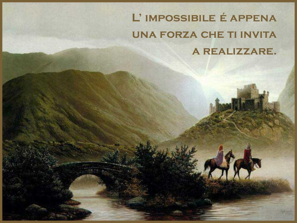 L' impossibile é appena