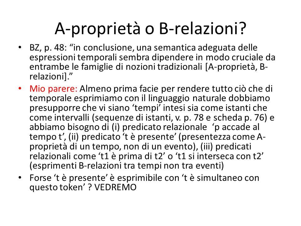 A-proprietà o B-relazioni