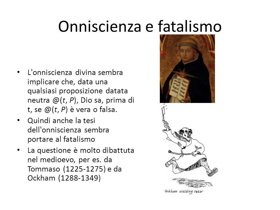Onniscienza e fatalismo