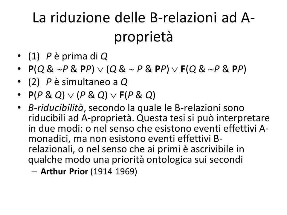 La riduzione delle B-relazioni ad A-proprietà