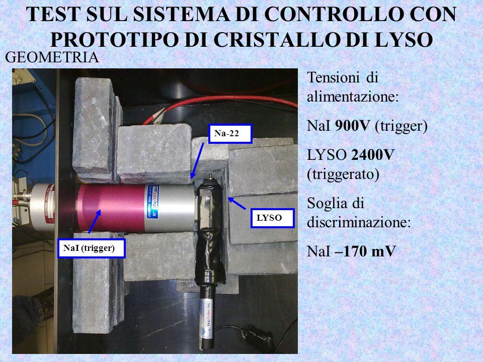 TEST SUL SISTEMA DI CONTROLLO CON PROTOTIPO DI CRISTALLO DI LYSO