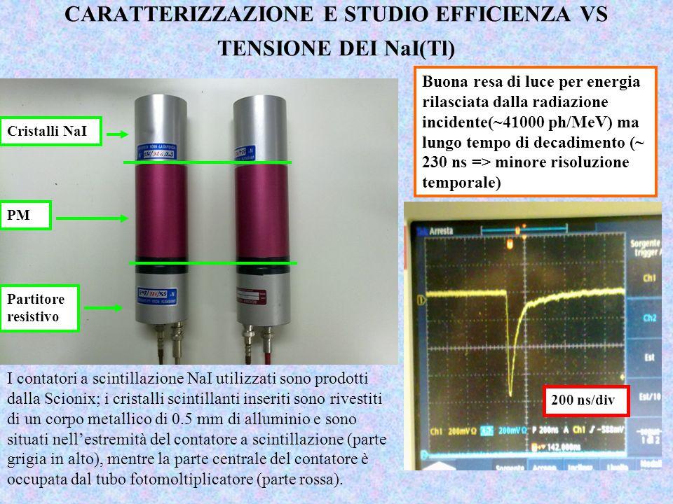 CARATTERIZZAZIONE E STUDIO EFFICIENZA VS TENSIONE DEI NaI(Tl)