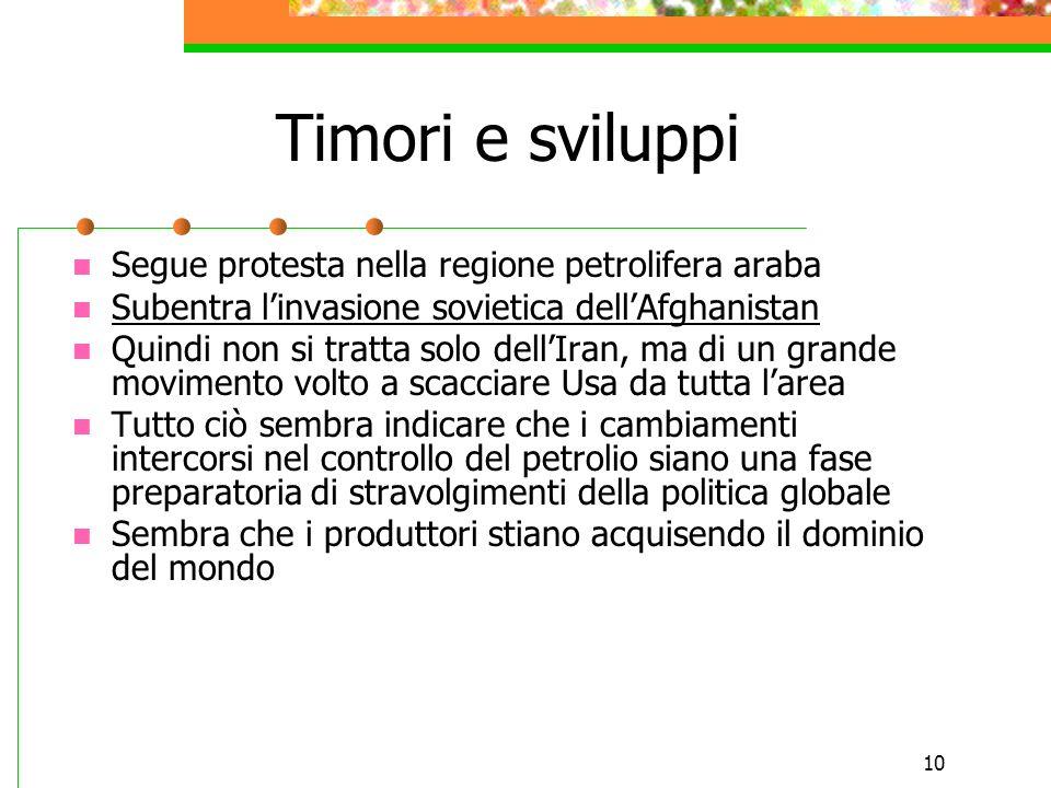 Timori e sviluppi Segue protesta nella regione petrolifera araba