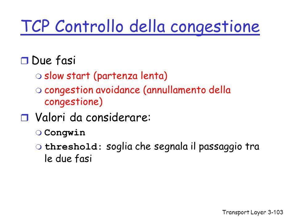 TCP Controllo della congestione