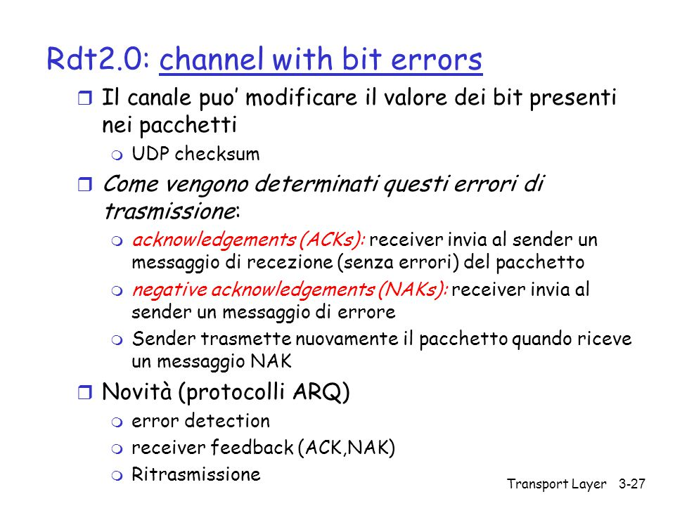 Rdt2.0: channel with bit errors