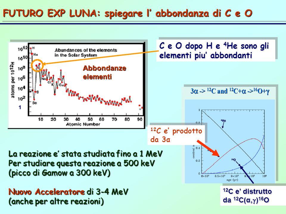 FUTURO EXP LUNA: spiegare l' abbondanza di C e O