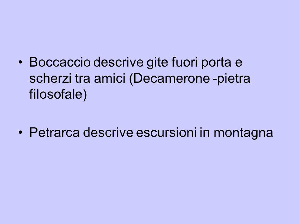 Boccaccio descrive gite fuori porta e scherzi tra amici (Decamerone -pietra filosofale)