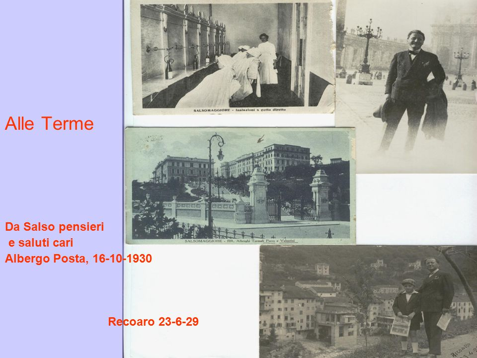Alle Terme Da Salso pensieri e saluti cari Albergo Posta, 16-10-1930