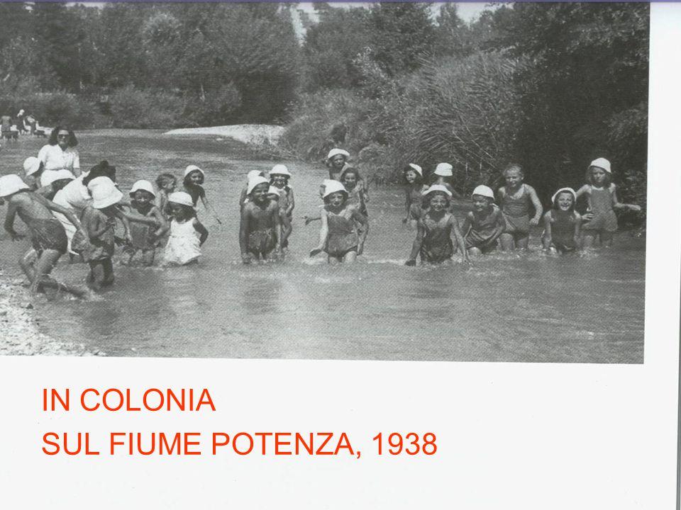 IN COLONIA SUL FIUME POTENZA, 1938