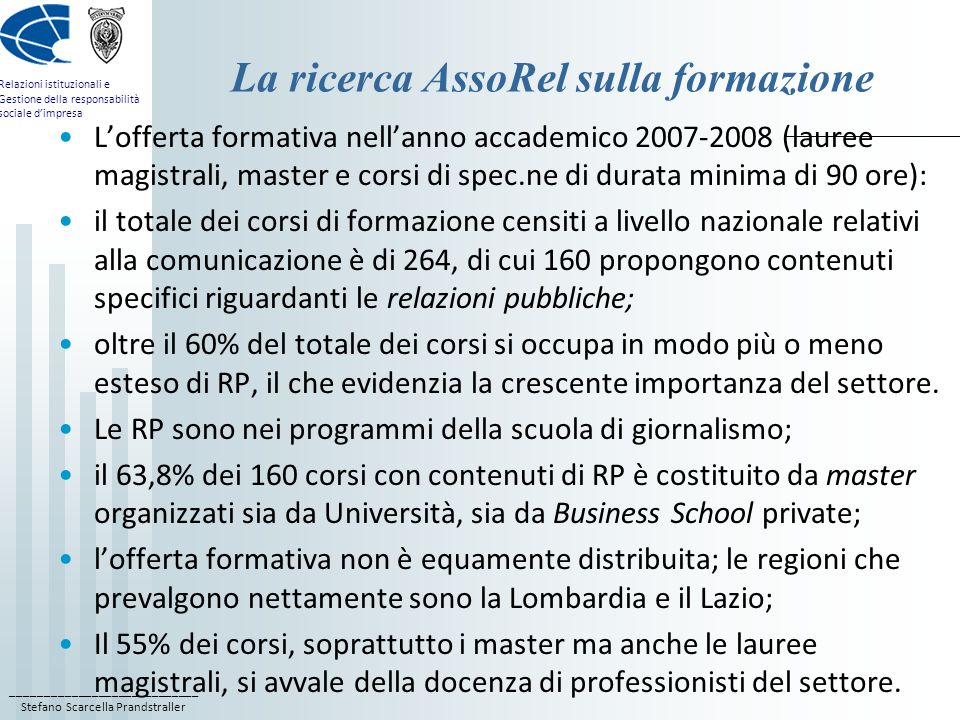 La ricerca AssoRel sulla formazione