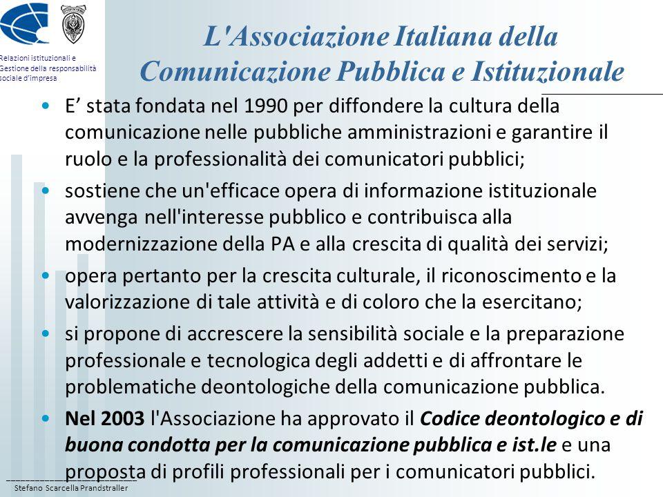 L Associazione Italiana della Comunicazione Pubblica e Istituzionale