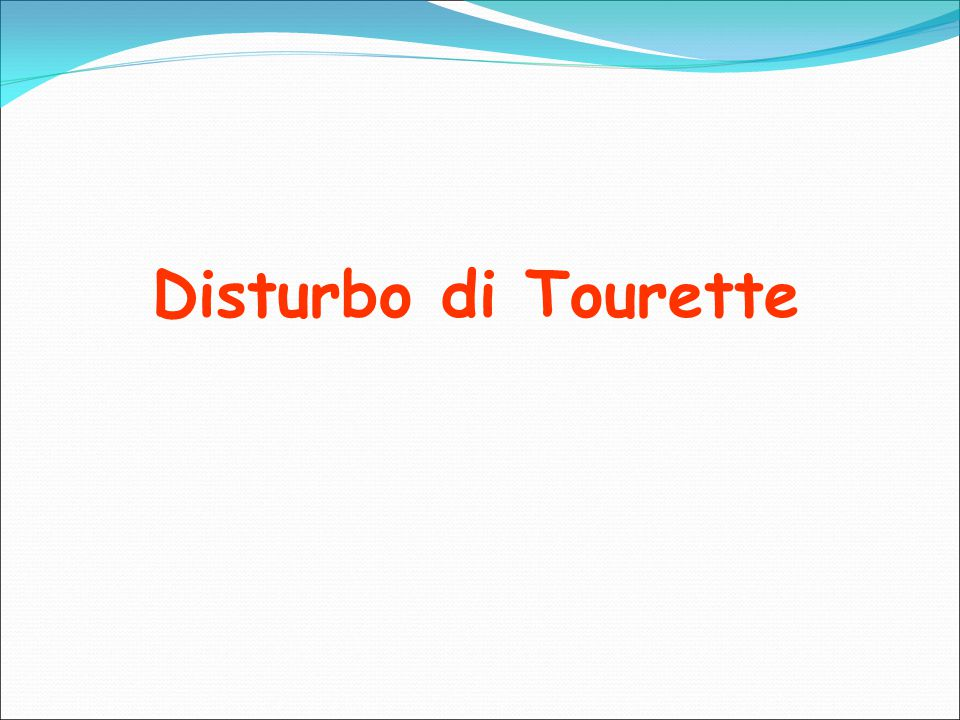 Disturbo di Tourette