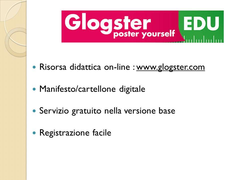 Risorsa didattica on-line : www.glogster.com