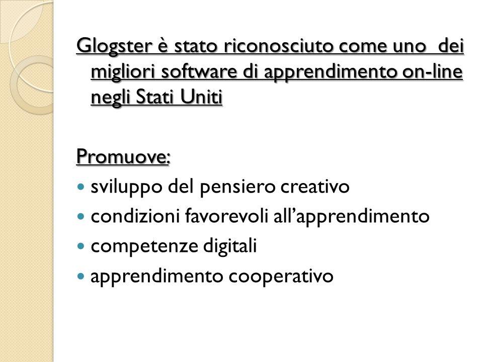Glogster è stato riconosciuto come uno dei migliori software di apprendimento on-line negli Stati Uniti