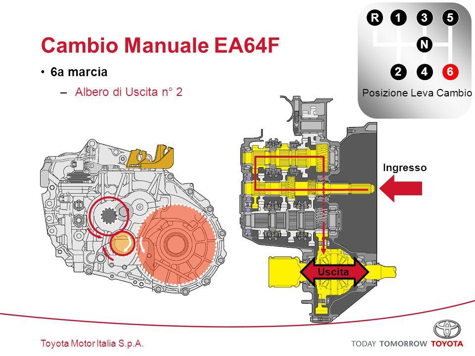 Cambio Manuale EA64F 6a marcia R 1 3 5 N Albero di Uscita n° 2 2 4 6