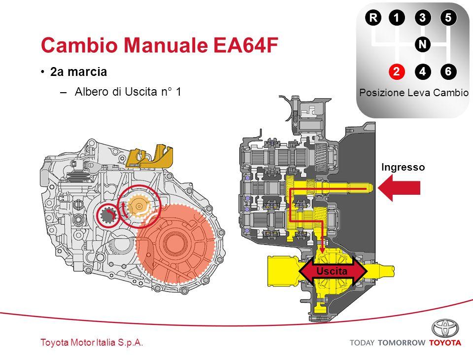 Cambio Manuale EA64F 2a marcia R 1 3 5 N Albero di Uscita n° 1 2 4 6