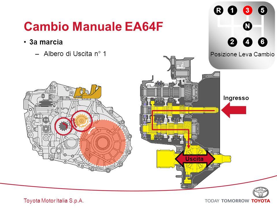 Cambio Manuale EA64F 3a marcia R 1 3 5 N Albero di Uscita n° 1 2 4 6