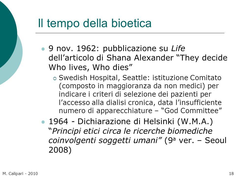 Il tempo della bioetica