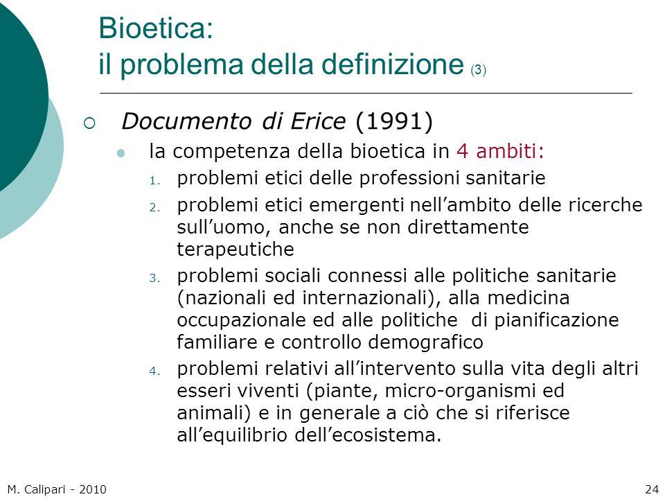 Bioetica: il problema della definizione (3)