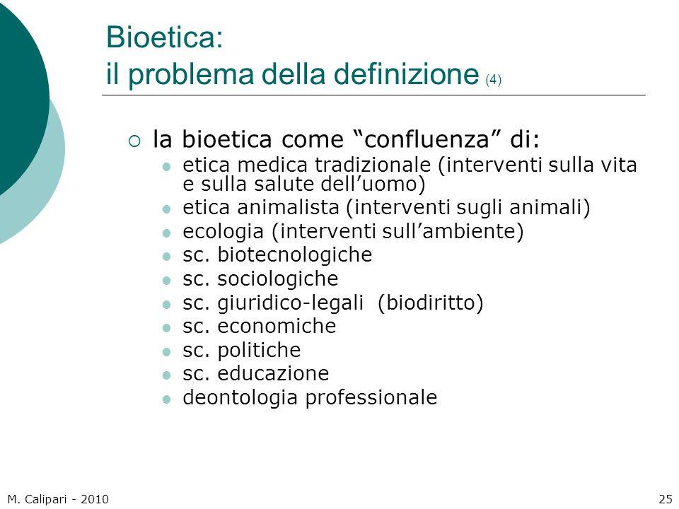 Bioetica: il problema della definizione (4)