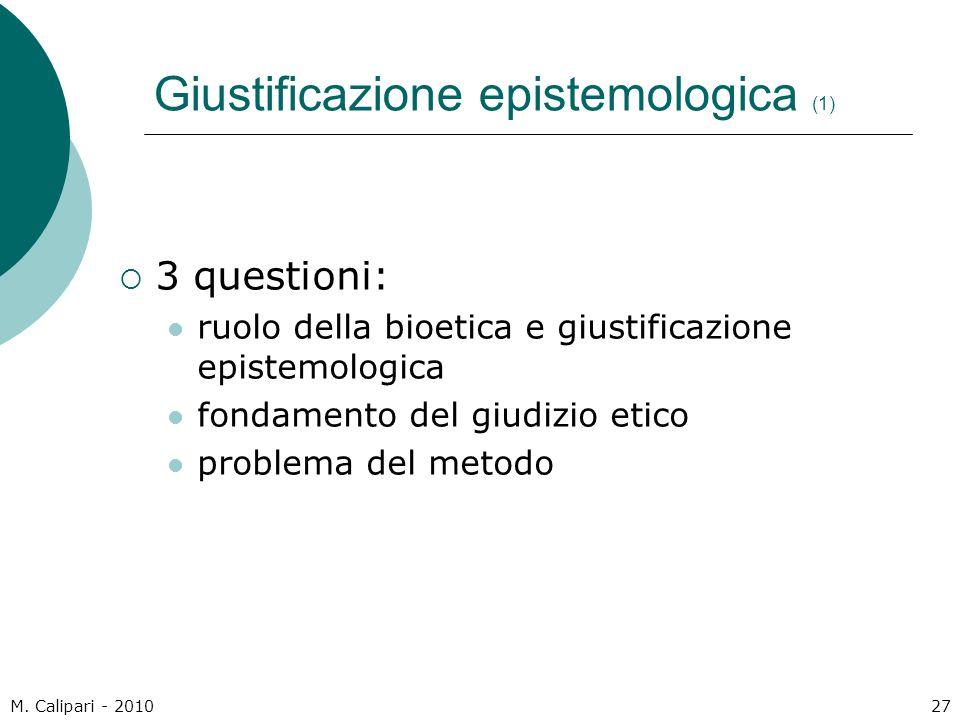 Giustificazione epistemologica (1)