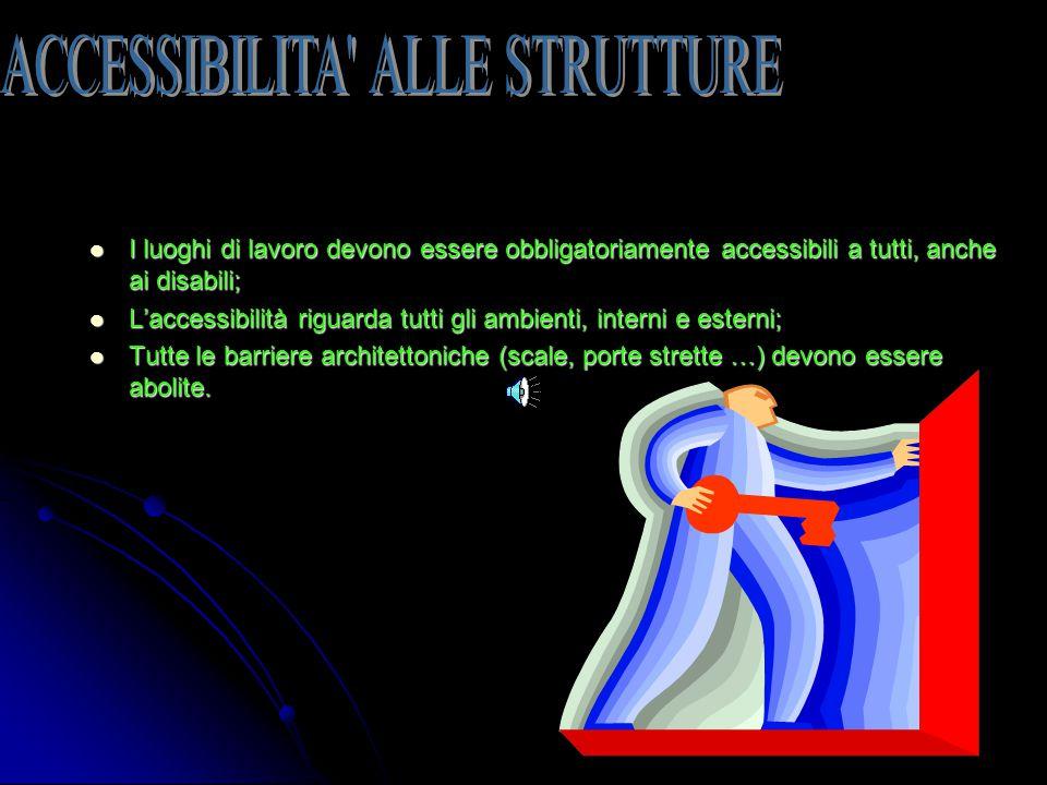 ACCESSIBILITA ALLE STRUTTURE