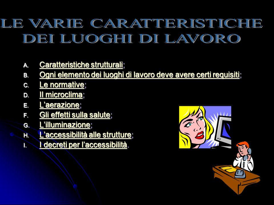 LE VARIE CARATTERISTICHE
