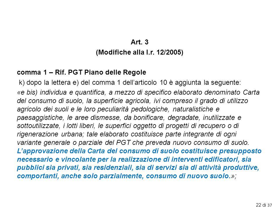 Art. 3 (Modifiche alla l. r. 12/2005) comma 1 – Rif