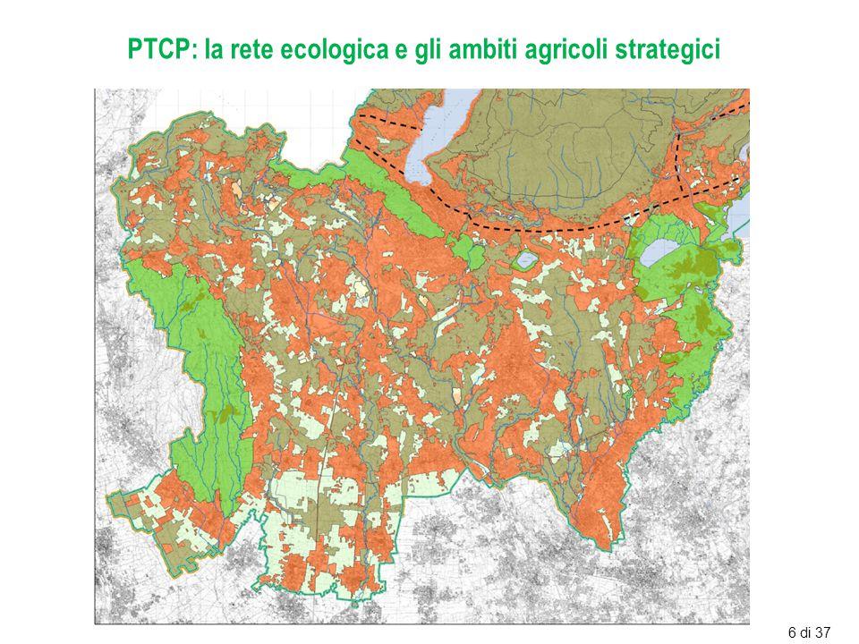 PTCP: la rete ecologica e gli ambiti agricoli strategici