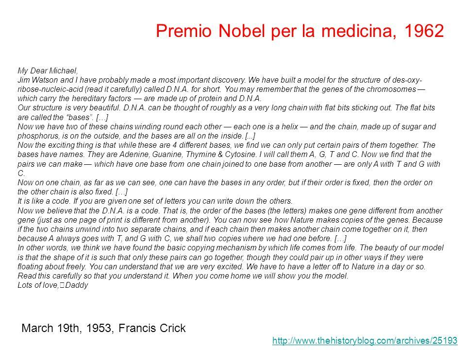 Premio Nobel per la medicina, 1962