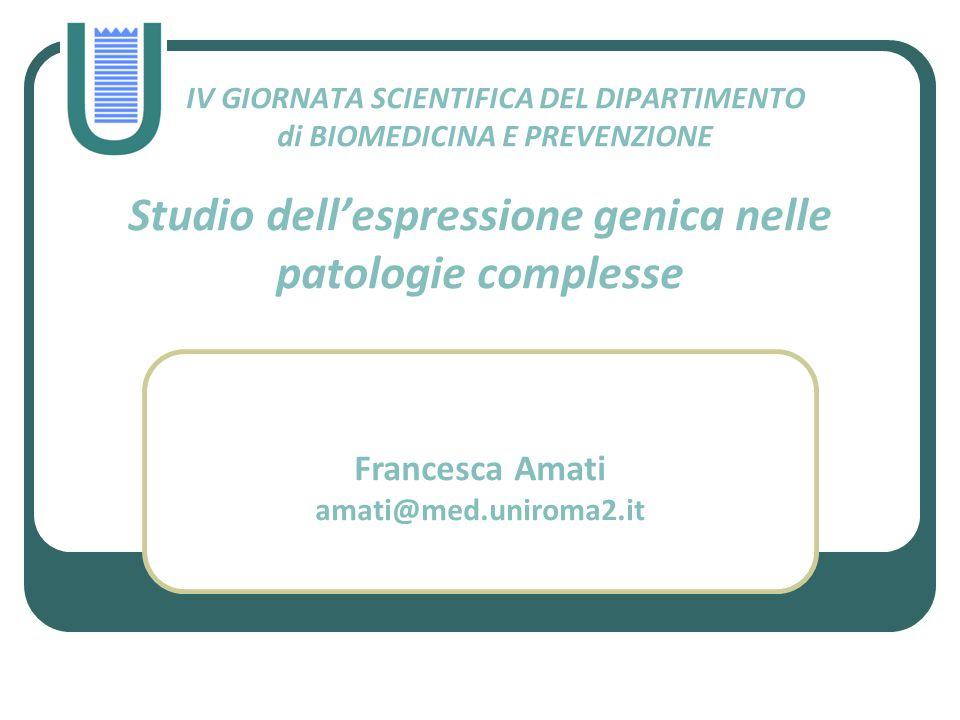 IV GIORNATA SCIENTIFICA DEL DIPARTIMENTO di BIOMEDICINA E PREVENZIONE
