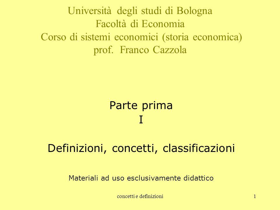 Definizioni, concetti, classificazioni