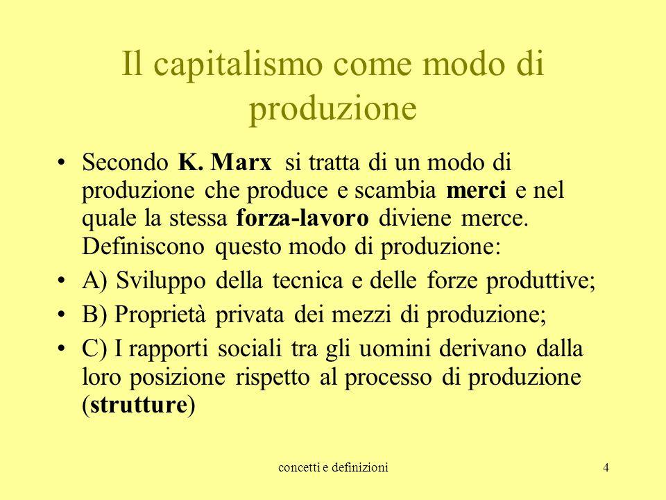 Il capitalismo come modo di produzione