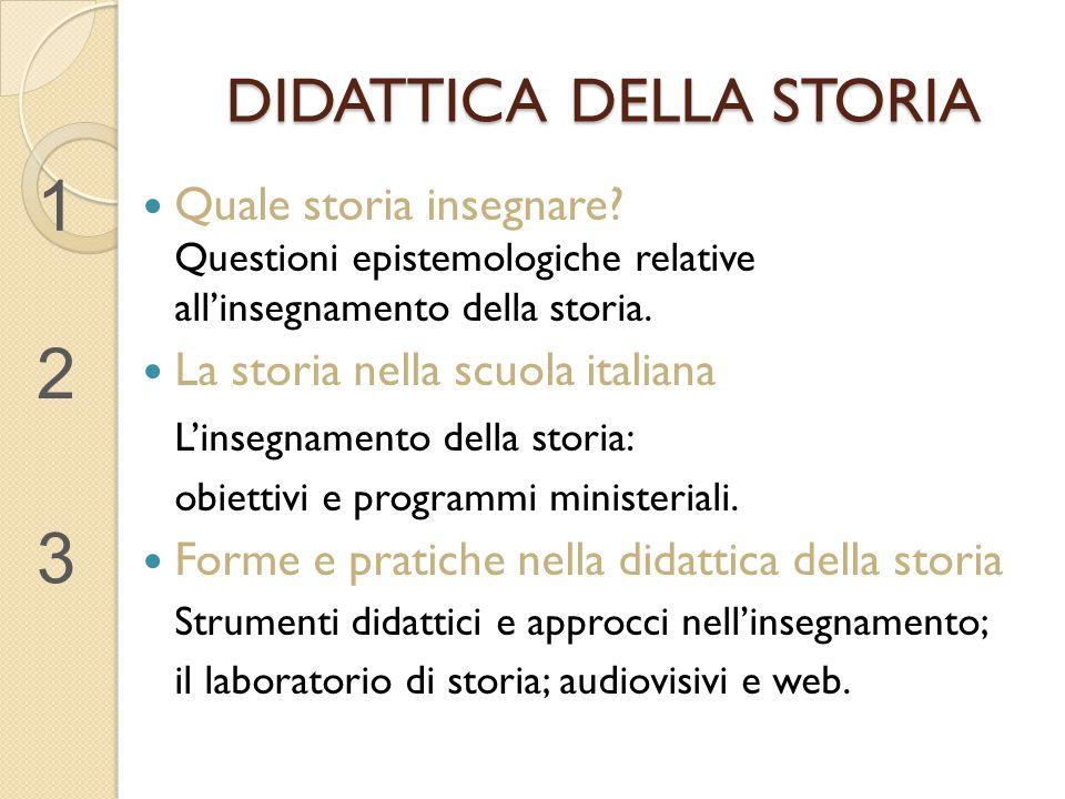 DIDATTICA DELLA STORIA