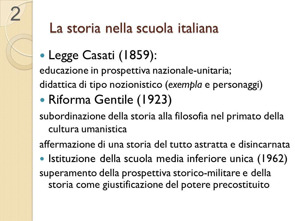 La storia nella scuola italiana