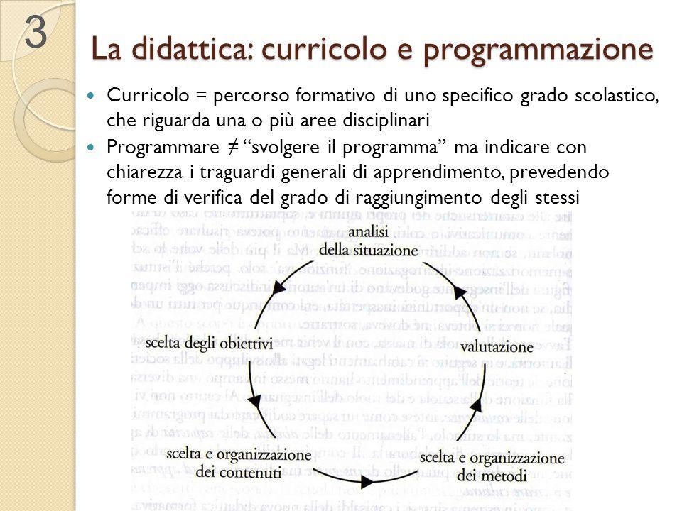 La didattica: curricolo e programmazione