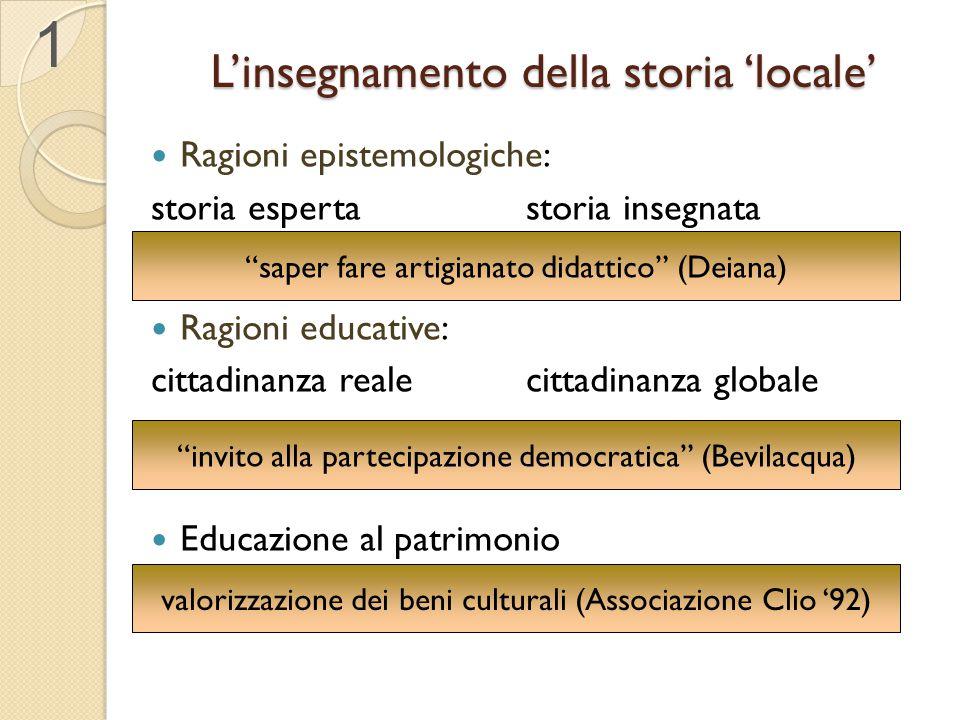 L'insegnamento della storia 'locale'