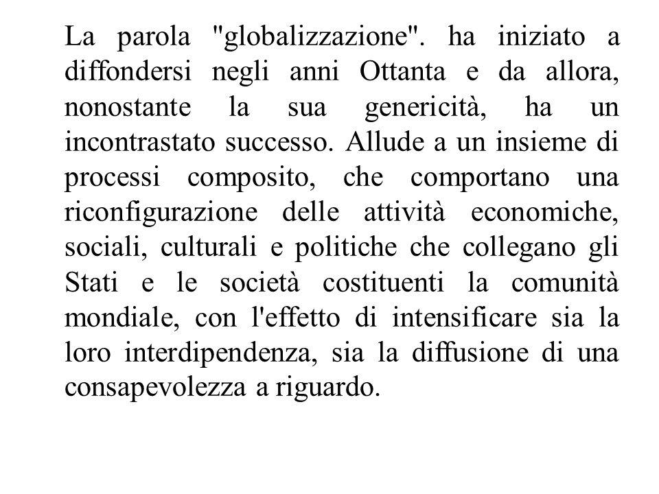 La parola globalizzazione