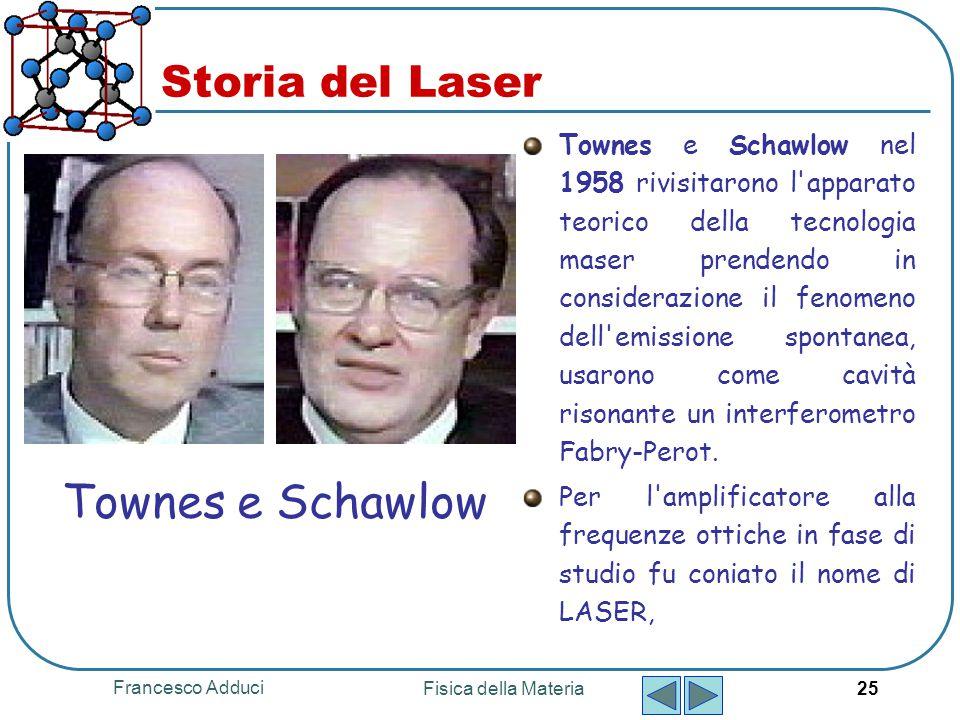 Townes e Schawlow Storia del Laser