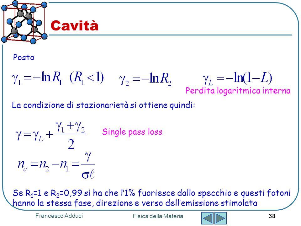 Cavità Posto Perdita logaritmica interna