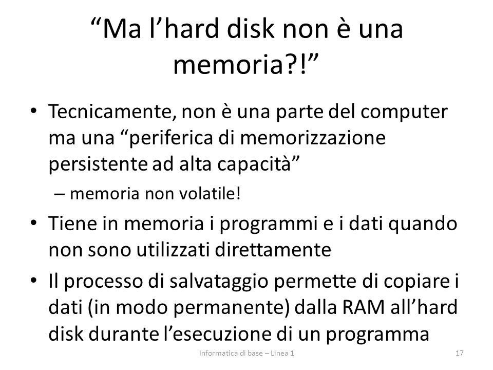Ma l'hard disk non è una memoria !