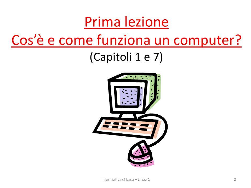 Prima lezione Cos'è e come funziona un computer (Capitoli 1 e 7)