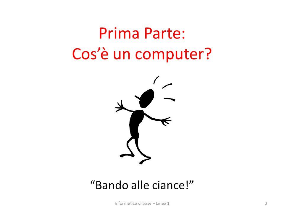 Prima Parte: Cos'è un computer