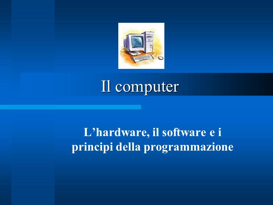 L'hardware, il software e i principi della programmazione